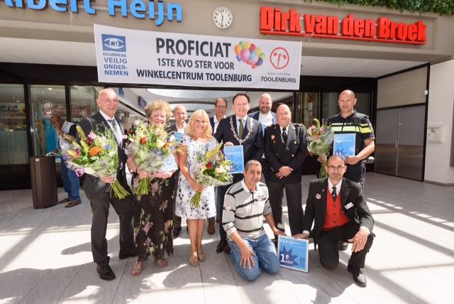 Winkelcentrum Toolenburg ontvangt Keurmerk Veilig Ondernemen