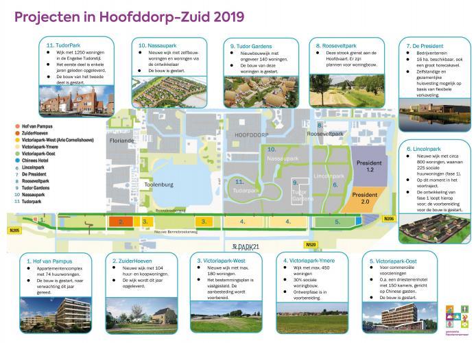 Bouwontwikkelingen in Hoofddorp-Zuid